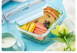 Hot-Selling Microondas Caja de silicona plegable Box Lunch Box lunch para los niños alimentos termo Recipiente contenedor de cuadro de la vajilla