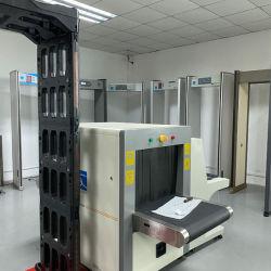 Прогулка через металлоискатель для использования внутри помещений для проверки температуры тела