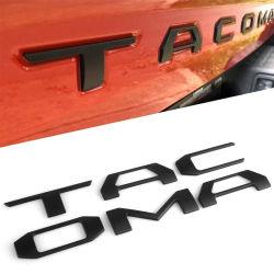 Portão traseiro de plástico ABS Carta adesivos autocolantes para a Toyota Tacoma