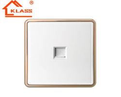 لوح بيضاء ذهبيّة إطار جدار [رج11] [رج45] تلفزيون [تل] مأخذ مقبس تجويف