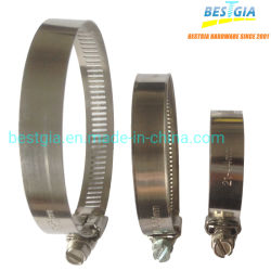 DIN3017-1, braçadeiras de mangueira tipo GM SS304, braçadeiras de tensão SAE a braçadeira da mangueira da engrenagem helicoidal, binário constante. Aço inoxidável Worm americano a Braçadeira da Mangueira de Acionamento