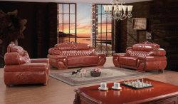 Современный дизайн роскошный кожаный диван в коммерческих целях мебелью коричневого Office вид в разрезе диван кресло, диван ожидания