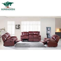 Commerce de gros d'usine Hot Sale canapé Set, un design moderne canapé en cuir, salle de séjour d'inclinaison manuelle Accueil Mobilier canapé