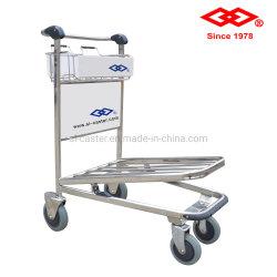 L'aéroport en acier inoxydable chariot à bagages