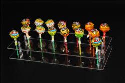 """Visualizzazione acrilica /Stand/Holder/Base/Shelf della decorazione del """" server """" del banco di mostra della radura del Lollipop di schiocco della torta dei 20 fori"""