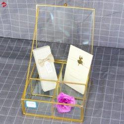 4 ou 6 compartiments terrarium en verre Boîte avec couvercle de pivotement