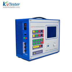 전기 시험 장비 마이크로컴퓨터 통제 보호 릴레이 테스트 시스템 자동적인 3 단계 보호 릴레이 시험 세트를 위한 이차 주입 검사자