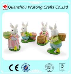 Las mejores vacaciones de primavera de resina de venta Regalos Decoración figurita de conejito de Pascua