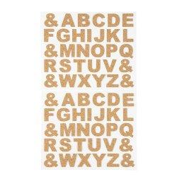 China Venta a granel barato Kids láser bricolaje Corcho Laminado de madera del alfabeto adhesivo