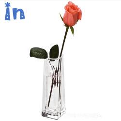 Personnalisée en usine de l'acrylique de haute qualité Vase de fleurs rose étanche Affichage