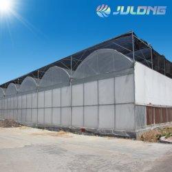Multi Überspannungs-Plastikfilm-Gewächshaus gebildet in Ventilations-Windows-Kühlsystem