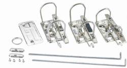 """Personalizado 2 o 3"""" Clip de archivo de empujar la palanca dos anillos mecanismo de arco de la palanca de clip de metal"""