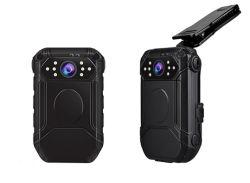 Corpo usável policial câmera de vídeo 1296P 1080P IP67 Câmara GPS de visão nocturna com lente dupla câmara junto ao corpo de polícia