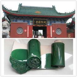 Glasig-glänzende traditioneller Chinese-Dach-Fliesen für Bügel-Grün