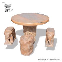 Presidenza del marmo della mobilia dei prodotti del giardino e Tabella di pietra esterne Mtd-01