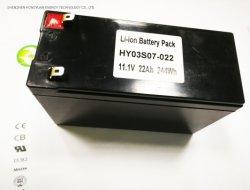 Venta caliente de pequeño tamaño, 12V 22Ah 3c Batería de litio utilizadas en LED, CCTV y sustituye a la batería de plomo ácido GPS