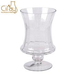 Flint mayorista chino portavelas de vidrio artesanal para decoración del hogar