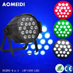LEDの同価は18PCS 10W RGBW 4in1の段階装置の照明をつける