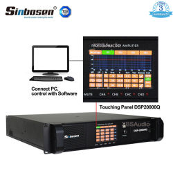 Sinbosen DSPのアンプ4チャネルDSP20000qのコンピュータのオーディオ・アンプ