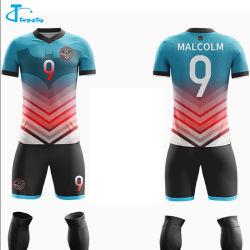 fait sur mesure à séchage rapide de la SUBLIMATION Maillot de soccer de Soccer Shirt respirable