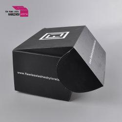 Contenitore di carta piegante del cartone dell'OEM di pacchetto ondulato nero dell'ala per le estetiche