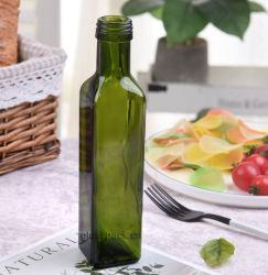 オリーブ油のためのQuadraの深緑色のびんかQuadraのガラスビン