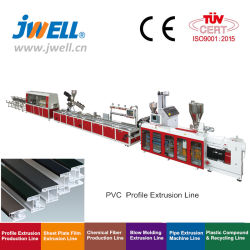 Jwell PVC plástico/PE/PP/WPC caixilhos de porta Janela/ Tecto Board/ Wallboard /Rodapé tubo// Folhas/ máquina de extrusão do tubo