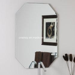 Espelho de prata sem caixilho, com borda polida para casa de banho, lavatório com espelho de suportes de metal