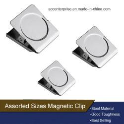 Grampo de mola magnético quadrado do metal