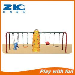 Los niños de oscilación de plástico de alta calidad y la pared de escalada jugar
