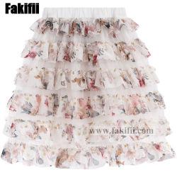 2021 nuevo estilo se adaptan a las niñas ropa niños primavera verano Flora falda en capas