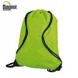 Cheap 190T 210d imprimés promotionnels en nylon polyester Cheap Sport Sac Pochette Sac à dos de l'école Le Cordon de serrage