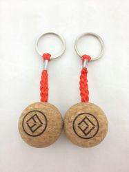 """Custom Wood Cork Ball keychain Floating Key Chain Manufacturer 35 مم 50 مم حرف هدية مخصص الخشب سلسلة مفاتيح """"فلور كورك"""" العائمة"""