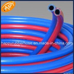 Tubo flessibile di gomma Braided della saldatura del gemello del tubo flessibile dell'acetilene & dell'ossigeno