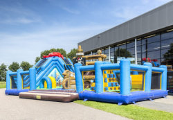 Pirate Ship Inflatable Slide Combo/Inflatable Amusement Park Voor Kinderen Co2901