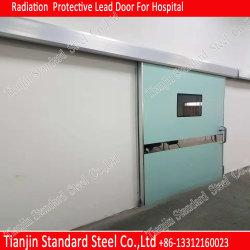 Рентгеновское излучение защиты 2mmpb механизированной боковой сдвижной двери экранирование отведений