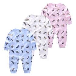 Allover gedruckter Combcotton neugeborener Baby-Karosserien-Spielanzug