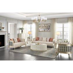 غرفة معيشة خشبية حديثة فاخرة وأثاث طاولة قهوة وطاولة قهوة وأريكة