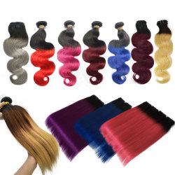 جمليّة [هاي قوليتي] برازيليّة مستقيمة 99j 27 4 2 1b 613 آلة بيع حزمة الشعر البشرية 3 طنين لون أومبر تمديدات الشعر
