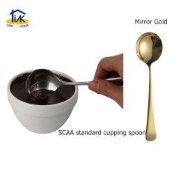 Cpn00001cgd de Aço Inoxidável Titaniumgold Professional Barista Ferramentas Canolamento colher de café