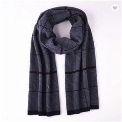 La fábrica de lana al por mayor Empresa de tejido Jacquard bufanda cuadros escoceses en invierno los hombres Bufandas bufanda hecho personalizado