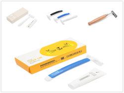 Bambussalon, der einzelne Schaufel für Herrenfriseur-Wegwerfrasiermesser rasiert
