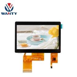 التخصيص 4.3 بوصة IIC 5Points GG Cap شاشة اللمس 480x272 TN شاشة عرض LCD من نوع TFT LCD تعمل باللمس