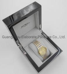 Logo Customzied impression en Noir Piano Boîte en bois brillant Watch bois Boîte cadeau de package