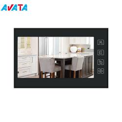 7 Polegadas vídeo IP telefone Porta de intercomunicação de campainha do Sistema de Entrada com visão nocturna com porta de áudio do telefone