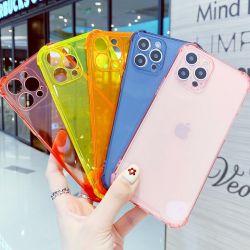세미, 1.5mm 투명 13색 전화 케이스, 긁힘 방지 충격 흡수 TPU 모바일 iPhone용 전화 케이스 6/7/8/11/12/13/X/Xs/XR/PRO/PRO Max/Plus, 오렌지
