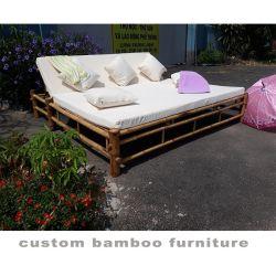 옥외 정원 의자는 Sunbed 새로운 대나무 가구를 주문을 받아서 만들었다