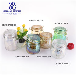 500mlブラジルの熱い販売イオンめっきカラー台所のためのガラス記憶の瓶のギフトを使用して(GB21640500-DDB)