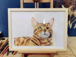 사진에서 손으로 만든 PET 연필 스케치 도면 인물