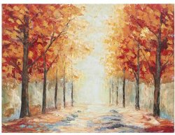 Handmade Chemin de l'arbre d'automne de l'huile sur toile peintures des photos de paysage de la taille de la Nature 40X30pouces pour la décoration d'accueil